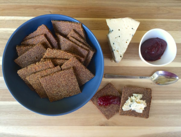 Crunchy Low Carb Flax Crackers Recipe