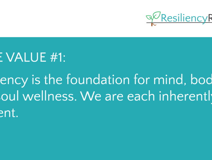 Resiliency Rooted Practice Core Value 1